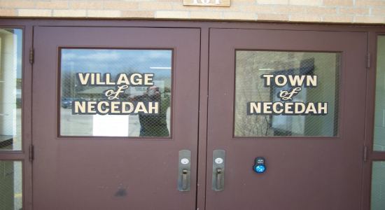 Entrance Necedah Town Village Halls